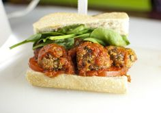Vegan meatballs that hold up when heated in sauce. Baked, contains vital wheat gluten.
