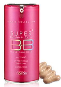 Skin79 BB cream -- I am not kidding when I say that this has completely changed my skin for the better. It's more even, smooth and younger looking. I'm not making this up -- even my husband noticed!