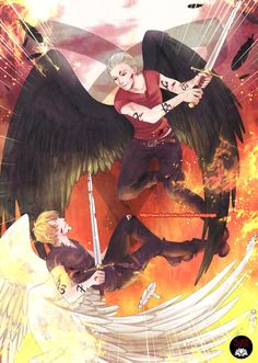 Jace vs Jonathan ...  From Low-Chan ...  jace herondale, jonathan morgenstern, the mortal instruments