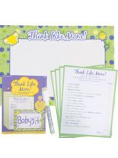 Think Like Mom! Baby Shower Game - Party City.  Could be fun.  I think we can make up better questions