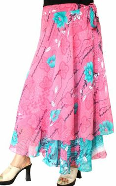 Indian Skirts Magic Beach Long Wrap Around Womens India Clothing (Pink) Maple Clothing http://www.amazon.com/dp/B00KHBRUPK/ref=cm_sw_r_pi_dp_4gBLtb04XP6W5VZY