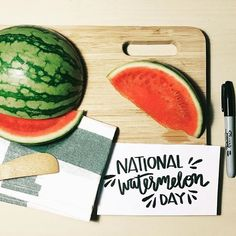 Happy national watermelon day. By @pistolpress_sf #designspiration #lettering # by designspiration