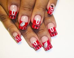 great for football season- football nails