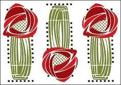 Frank+Lloyd+Wright+Designs+Stencils | Hill House Wall Stencil by ...
