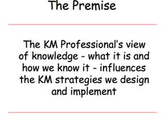 Where Knowledge Management Has Been and Where It Is Going- Part One