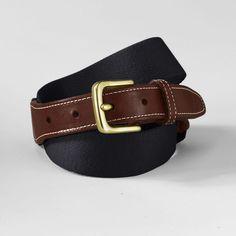 Black woven wool surcingle belt