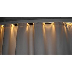 Modernize your bathroom with this lighted shower curtain rod. Bowed for additional shower space, this shower curtain rod can be used as a nightlight and is compatible with your existing shower decor.