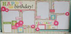 Happy Birthday Girl 12x12 Premade by ClassyCaptureDesigns on Etsy