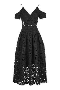 Laser Cut Bardot Prom Dress - Dresses - Clothing - Topshop