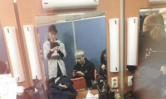 """""""@iamenik: Getting ready to perform on Music Bank ~~Enik and Sooyoon~~ #kbs #musicbank #royalpirates #rp"""