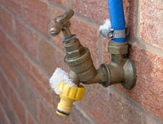 Prevent burst pipes due to freezing temperatures by taking steps to keep them warm.