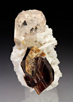 Topaz with Muscovite, Albite - Nyet, Braldu Valley, Skardu District, Baltistan, Gilgit-Baltistan, Pakistan Size: 4.5 x 3.0 x 3.0 cm (miniature)