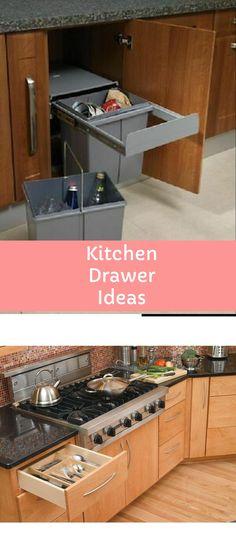 DIY Kitchen Drawer Ideas #diykitchendrawer #drawer Kitchen Drawers, Kitchen Cabinets, Drawer Inspiration, Drawer Ideas, Drawer Design, Diy Kitchen, Cool Kitchens, Diy Home Decor, Farmhouse