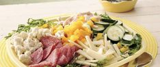 Escape to the Mediterranean with this traditional presentation of fresh vegetables, cured and cooked meats, and cheeses, drizzled with a simple vinaigrette. Balsamic Vinaigrette Recipe, Balsamic Dressing, Antipasto Salad, Types Of Cheese, Dinner Salads, Salad Bar, Fresh Vegetables, Summer Salads