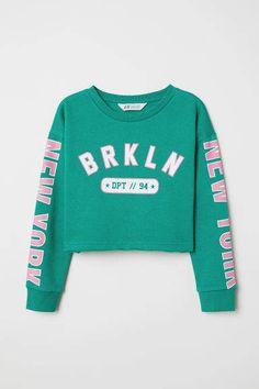 0b0500244bc8 H M Short Sweatshirt - Green H m Shorts
