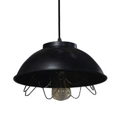 Lovely Farmhouse Hanging Pendant Light with a simple style and dark finish.