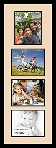 art to frames doublemultimat127078389frbw26079 collage photo frame double mat with 4 8x10 openings and satin black