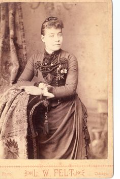 I'm intrigued by the array of embellishments on the bodice of this young Victorian woman's dress. Woman. #Victorian #portrait #dress #cabinet_card