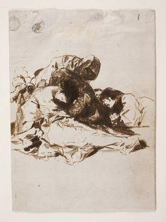 Goya en El Prado: Muerta de hambre ~Repinned Via Amparo Mañez