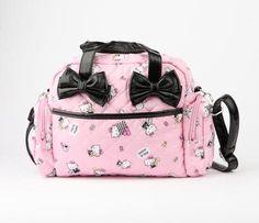 Hello Kitty 2 Way Handbag: Black Bow