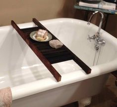 Tobacco Stick Bathtub Caddy Shelf. $65.00, via Etsy.