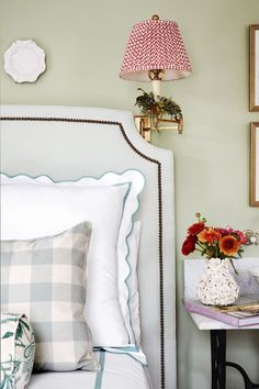 If you've already decided you want to spotlight green or you still need some convincing and inspiration, you're in the right place. We're showcasing designer green bedrooms that set the gold standard for decorating with this nature-inspired color. Keep reading to see how this versatile anchor color can transform just about any bedroom, no matter where it is—an estate, city apartment, or even a mountain chalet. Christmas In Connecticut, Classic White Kitchen, Discount Bedroom Furniture, Casual Dining Rooms, Blue And White Fabric, Bedroom Green, Green Bedrooms, White Houses, Portfolio Design