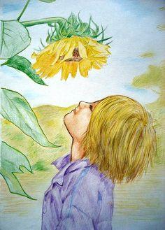 Blume, Malerei, Zeichnung, Märchen, Fantasie, Mädchen