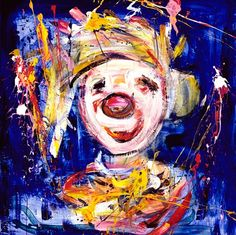 Bilderesultat for marianne aulie klovner Clown Images, Edvard Munch, Beautiful Paintings, Norway, Artsy, Graphic Design, Texture, Abstract, Canvas