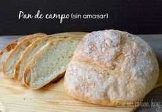 Pan de campo sin amasar / No-knead country bread    En mi cocina hoy Recipe in Spanish and English