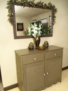 My Designs- Dresser Cabinet & Mirror