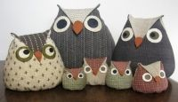 Lucky Owls Doorstop pattern - 6 sizes in one. by The Haby Goddess