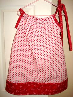 Valentine's Pillowcase dress