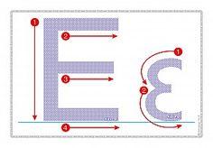 """Εκτύπωση φύλλου δραστηριότηρας με θέμα """"Πώς γράφεται το γράμμα Ε,ε"""". Preschool Writing, Learning To Write, Learn To Read, Motor Skills, Worksheets, Alphabet, Banner, Symbols, Letters"""