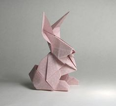 Rabbit origami / only photo