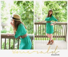 funky young professional outfits what to wear green dress and boots  Emerald Studios Blog