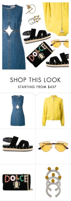 """""""Street Style"""" by dressedbyrose ❤ liked on Polyvore featuring Courrèges, Herno, Muveil, Christian Dior, Dolce&Gabbana, Marni, Natasha Schweitzer, StreetStyle, cool and ootd"""