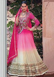 Elegant Net Floor Length Anarkali