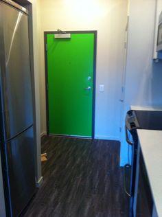 Green door - brighten up a small space