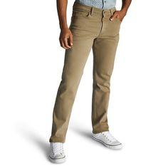 Men's Lee Regular-Fit Stretch Straight-Leg Jeans, Size: 34X34, Dark Beige