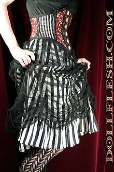 Circus Performer Can Can Skirt by Louise Black in by louiseblack, $114.50