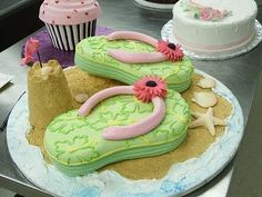 Flip flop cake?  Great idea for a summer birthday party.