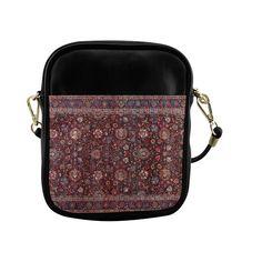 Vintage Floral Persian Rug Pattern Sling Bag (Model 1627)