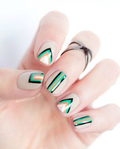 Edgy Geometric Nail Art Design
