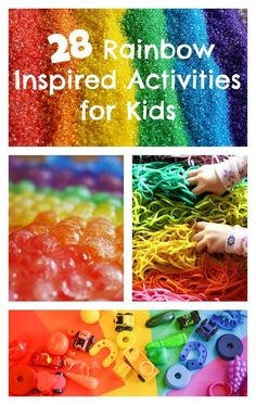 Learning and Exploring Through Play: 28 Rainbow Inspired Activities for Kids