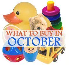 The Best Things to Buy in October via MrsJanuary.com #savemoney #frugal