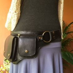 Utility Belt / Leather Hip Bag / Fanny by ThaiArtistCollective
