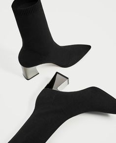 Image 4 of FABRIC HIGH HEEL ANKLE BOOTS WITH STRETCH from Zara