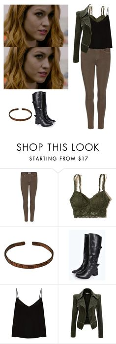 """Clary Fray - shadowhunters"" by shadyannon ❤ liked on Polyvore featuring Paige Denim, Hollister Co., Therapy, Boohoo and Raey"