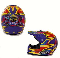 1993 Troy Lee Designs Shoei of Damon Bradshaw | Flickr - Photo Sharing!