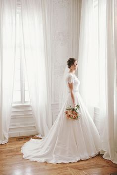 Justin Alexander ball gown with cap sleeves.